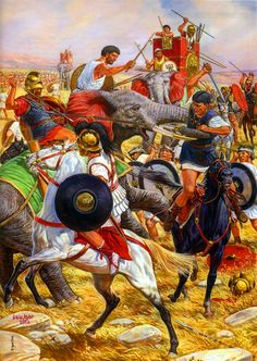 """The battle of Ilipa"", Igor Dzis - a battle between the Carthaginians and Romans."