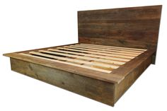 Récupéré le lit plateforme en bois et tête par RedeemedUrbanDesign