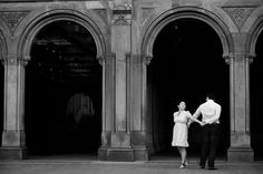 wedding bethesda fountain central park | ... photo of a wedding couple dancing in front of Bethesda Fountain arches