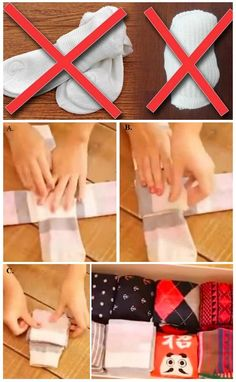 How to Fold Your Socks The Right Way - save space in your luggage!