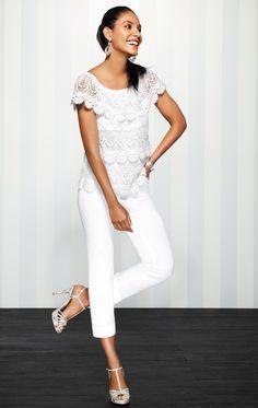 White goes glam for spring.  #whbm #spring