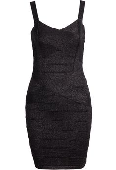 Black Spaghetti Strap Bandage Dress 31.67