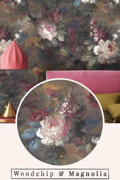 Our take on the 'Dutch Masters' moody floral look. Ava Marika is a dark, expressive floral with touches of blackcurrant, amber, cerulean and navy. We have expressed the true potential of digital print and experimented with scale without it be overpowering in your home. Proudly made in our design studio in Lancashire England Floral Print Wallpaper, Botanical Wallpaper, Floral Prints, Moody Wallpaper, Wallpaper Roll, Design Repeats, Little Designs, Cerulean, Order Prints