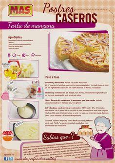 #Receta de #Tarta de Manzana, exquisita y fácil de preparar #Recetas #InfoRecetas #Infografias #Infographics #Recipes