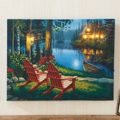 19 Cabin Light Up Pictures Ideas Lighted Canvas Art Lighted Canvas Light Up Pictures