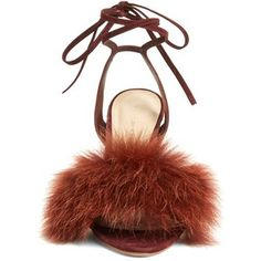 Women's Loeffler Randall 'Nicolette' Genuine Fox Fur Trim Sandal