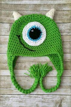 Crochet Baby Hats Monster Crochet Hat-Monsters Inc Inspired Crochet Hat-Monster Hat-Baby Monster Hat-Crochet Monster Costume-Toddler Monster Hat-Photo Prop by ALittleLadyandMe on Etsy - Monsters Inc Crochet, Crochet Monster Hat, Crochet Baby Boy Hat, Bonnet Crochet, Crochet Kids Hats, Crochet Cap, Crochet Beanie, Crochet Crafts, Crochet Projects