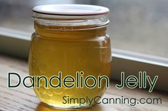 Canning Dandelion Jelly Recipe-chia in place of pectin Easy Canning, Canning Tips, Canning Recipes, Jelly Recipes, Jam Recipes, Dandelion Recipes, Dandelion Jam Recipe, Dandelion Jelly, Canning Food Preservation