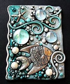 fish relief. I want to do storybook reliefs with kids