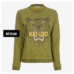 KENZO - embroidered tiger sweater #kenzo #sweater #sweaters #tiger #paris #womens #womenswear #fashion #newarrivals #shoponline #fw #fw13 #fw13/14 #farfetch #dolcitrame #dolcitrameshop