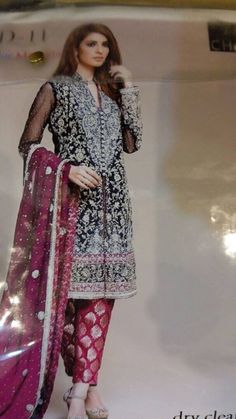 Zara Shah Jahan Blue Designer Dress Dark Blue & Shocking Pink Color With Dabka Nagh Zari & Tilla Threads Embroidery, Visit Now : www.NameerabyFarooq.com or Call / Whatsapp : +1 732-910-5427 Pakistani Wedding Dresses, Pakistani Bridal, Bridal Dresses Online, Bridal Outfits, Pink Color, Blue Dresses, Designer Dresses, Kimono Top, Zara