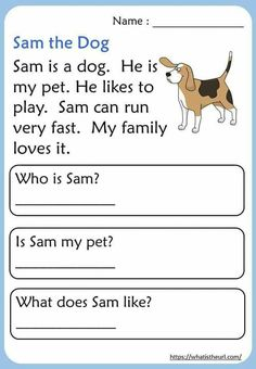 English Stories For Kids, Learning English For Kids, English Lessons For Kids, Free Stories For Kids, English Worksheets For Kindergarten, Kindergarten Reading Activities, Reading Worksheets, Reading Comprehension For Kids, Phonics Reading