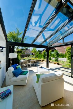Outdoor Classroom, Glass Ceiling, Conservatory, Sunroom, Front Porch, Canopy, Garden Landscaping, Ibiza, Villa