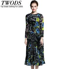 M L XL Printed Ruched Cotton Autumn Dress Laides Long Sleeve O neck Fit Flare Long Vestidos Robe Vintage Like if you are Excited! http://www.artifashion.net/product/m-l-xl-printed-ruched-cotton-autumn-dress-laides-long-sleeve-o-neck-fit-flare-long-vestidos-robe-vintage/ #shop #beauty #Woman's fashion #Products