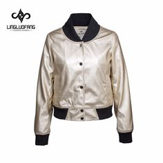 Sale US $55.71  lingluofang 2017 spring Leather clothing with screw thread leather for women Long Sleeve Faux Leather motorcycle jacket coat   . Get discount for product: Womens Casual Jackets.