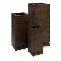 Willie 3 Piece Metal Planter Box Set