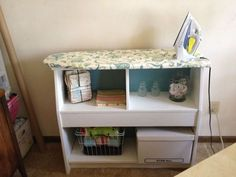 diy ironing board, laundry rooms, repurposing upcycling, shelving ideas