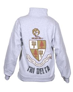 Tri Delta half zip sweatshirt