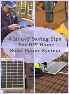 4 Money Saving Tips For DIY Home Solar Power System