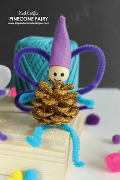 DIY Pinecone Fairy K