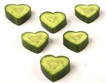 Hartjes komkommers voor je Valentijn, voorlopig alleen nog bij de horecagroothandel te koop