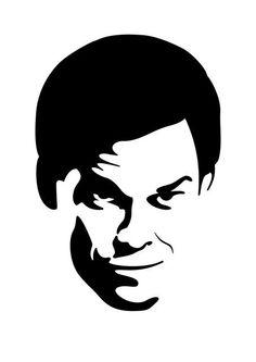 Dexter stencil template