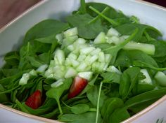 """Spinach and Strawberry Salad got rave reviews from several guests who aren't """"salad people"""""""