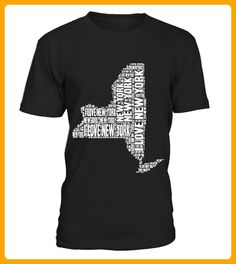 I Love New York  United States of America Word Cloud Graphic - 14 juli shirts (*Partner-Link)