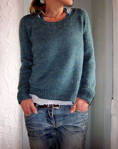 perfect sweater! love the fit (the ease!) love the shape love the eyelets (they are sooooo cute!) and love the color (I was not brave enough to choose a bright lime-green..) ….will definitel...