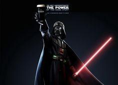 Darth Vader for Guinness: Do not understimate the power ok dark stuff!