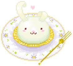 Gif Kawaii, Kawaii Art, Pixel Art Food, Food Art, Anime Chibi, Anime Art, Chibi Food, Pixel Characters, Aesthetic Gif
