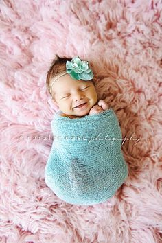Newborn photography pink, blue + the sweetest smile <3
