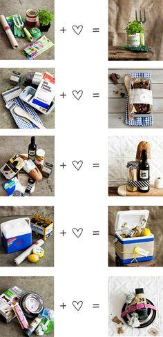 Housewarming gift - personalized baskets