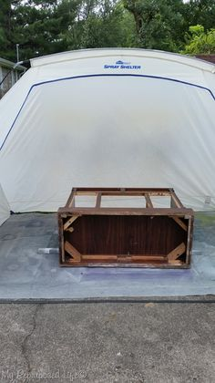 updating furniture is easy with the Homeright Spray Shelter and a Finish Max Fine Finish Sprayer