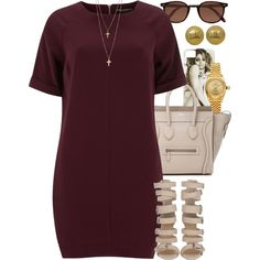 A fashion look from January 2015 featuring Dorothy Perkins dresses, CÉLINE tote bags and Rolex jewelry. Browse and shop related looks. Dope Outfits, Swag Outfits, Casual Outfits, Fashion Outfits, Fashion Clothes, Fashion Moda, Look Fashion, Womens Fashion, Polyvore Outfits
