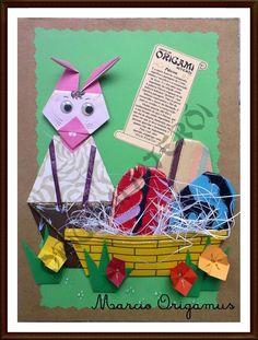 Cartão Temático A4: Para uma Feliz Páscoa Por Marcio Origamus - Grupo Origami Niterói