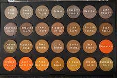Coastal Scents Gold & Orange Hot Pot Palette