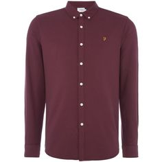 Farah Brewer Oxford Shirt (£65) ❤ liked on Polyvore featuring men's fashion, men's clothing, men's shirts, men's casual shirts, men shirts casual shirts, mens casual button up shirts, farah mens shirts, men's regular fit shirts, mens oxford shirts and mens cotton oxford shirts