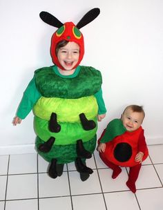 The Very Hungry Caterpillar & Apple costumes