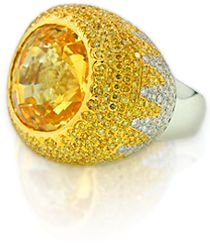"YAEL Designs custom-made cocktail ring ""Surya"" (Sun) won the 2009 AGTA Spectrum Honorable Mention award"