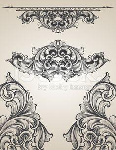 Gravure entrelacées bannière ensemble royalty-free stock vector art