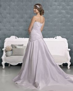 Indigo Lavender Wedding Dress (Back) – Amanda Wyatt 2011 Collection