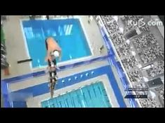 worlds highest human tower and jump in the pool