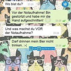 Lustige WhatsApp Bilder und Chat Fails 169 - Vor der Notaufnahme