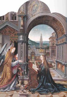 Tríptico de la Anunciación de Joos Van Cleeve, hacia 1540