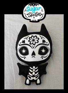 Sugar Skull Toy  Day of the Dead toy  Dia de los Muertos by fuish, $12.00