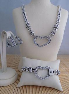 "Brighton ""Urban Lights"" Necklace Bracelet & Earrings - 3 piece set #Brighton"