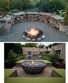 Gabion — a Fashionable Grid and Stones Trend in Landscape Design Backyard Garden Design, Diy Garden Decor, Backyard Patio, Melbourne Garden, Fire Pit Plans, Fireplace Garden, Garden Balls, Fence Design, Garden Structures