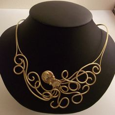Octopus Necklace in Bronze by BronzeSmith on Etsy, $69.00