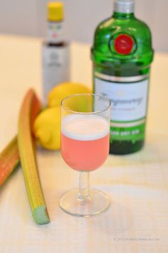 Rhubarb Gin and Tonic. | 17 Creative Gin And Tonic Cocktails